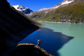 Mountain lakes and glaciers as a constant companion