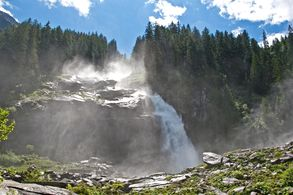 The waterfall Krimml at the SalzburgerLand - Ferienregion Nationalpark Hohe Tauern