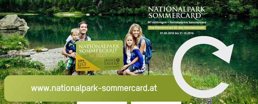 Nationalpark Sommercard MOBIL - Hohe Tauern Card